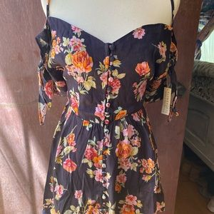 Black Floral mini dress perfect for summer